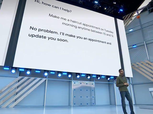 Uhh, Google Assistant, der sich als Mensch am Telefon ausgibt, ist für mich wie eine Hölle