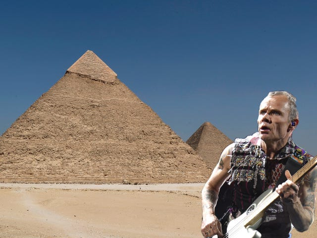 Culture finally comes to Egyptian pyramids in form of Red Hot Chili Peppers show
