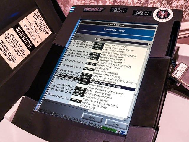 在这个黑客大会上的每个投票机都完全被证明了