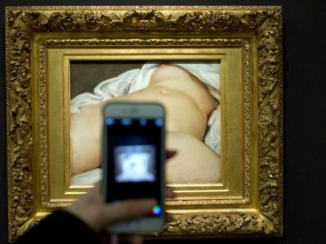 역사가는 Courbet의 악명 높은 누드 모델을 밝힙니다. <em></em>