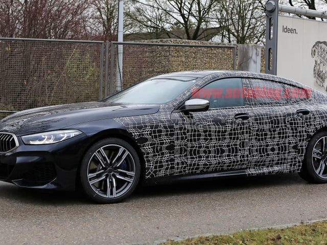 BMW 8-Series Gran Coupe spied testing with almost no camo