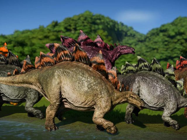 Les fans de <i>Jurassic World Evolution</i> inondent le jeu de stégosaures