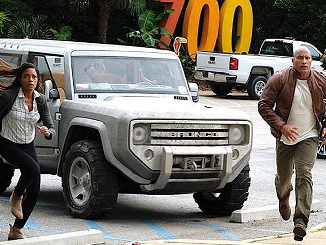 The Ford Bronco Concept Just Showed Up In The Rock's Next Movie