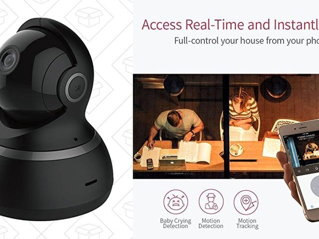Check In From Anywhere With This $41 Pan-and-Tilt Security Camera