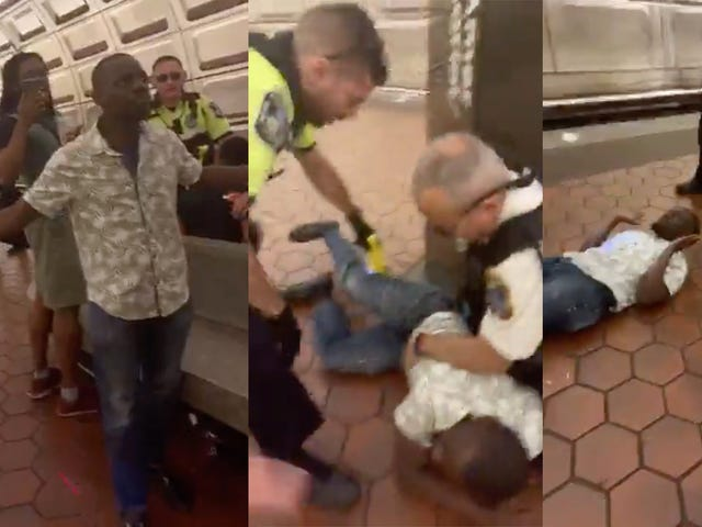 Video: DC Metro Officers Tase Man Because He Looked Like He Wanted to Fight Cops