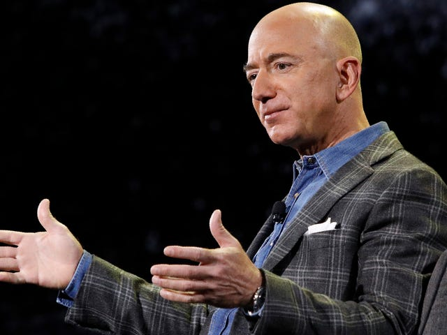 Jeff Bezos Outlines Plan to Colonize Space, Interrupted by Chicken Protestor
