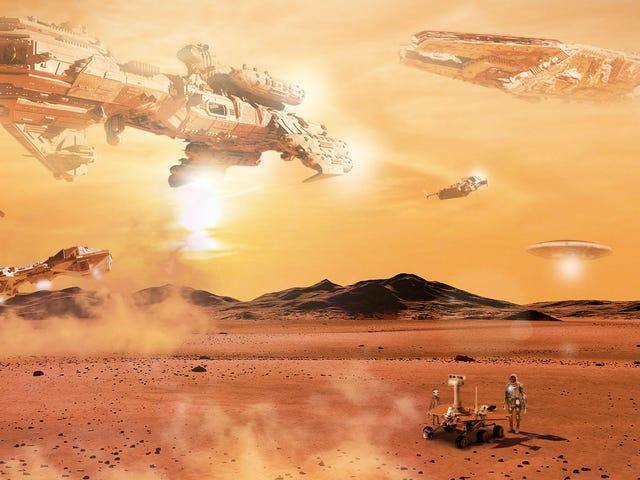 Viaggio in astronavi da tutta la galassia per onorare la fine della vita di Rover <em></em>