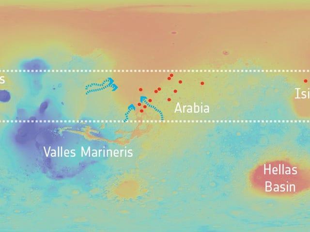 Космический корабль доказывает, что подземные воды когда-то насыщались Марсом