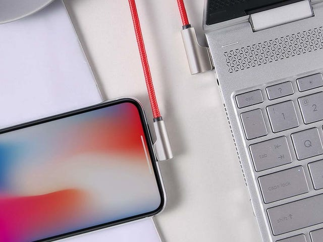 Snag Some 90 Degree Lightning Cables For Under $7 Each
