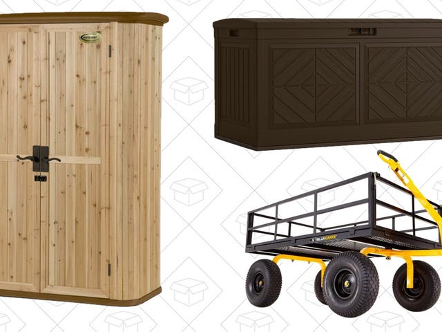 Tidy Up Your Outdoor Space With Home Depot's One-Day Storage and Cart Sale