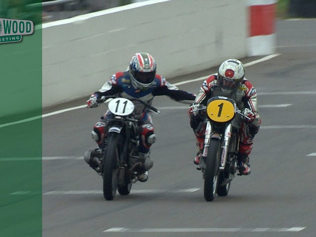 How to properly reach out and touch someone during a motorcycle race