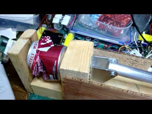 Build a DIY Can Crushing Machine Powered By An Arduino