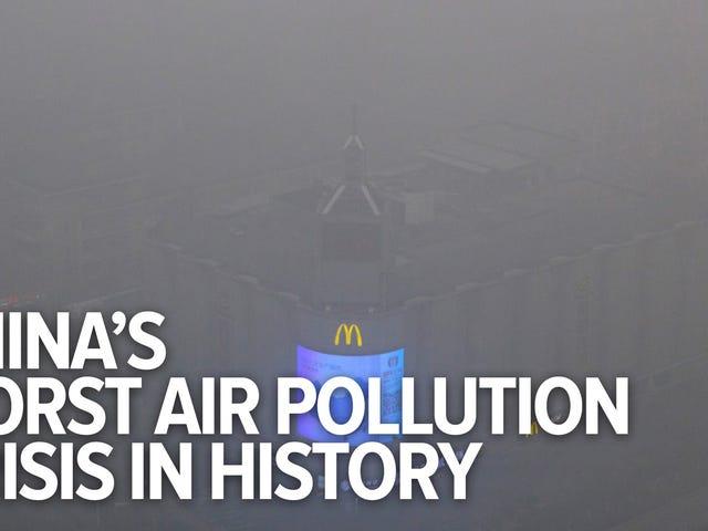 Como é a vida em Pequim durante a pior crise de poluição da China?