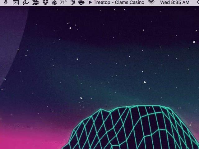 마지막으로 시에라의 메뉴 모음에서 타사 아이콘을 이동할 수 있습니다.