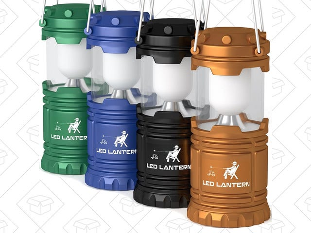 Light Up Your Tent With Four LED Camping Lanterns For $16