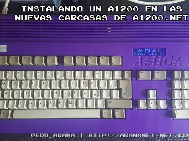 Instalando un Amiga 1200 en las nuevas carcasas de A1200.net