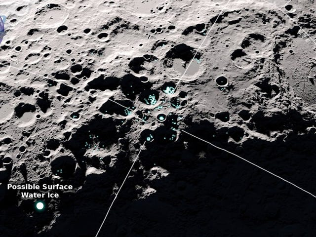 The Moon's South Pole May Be Icier Than We Realized