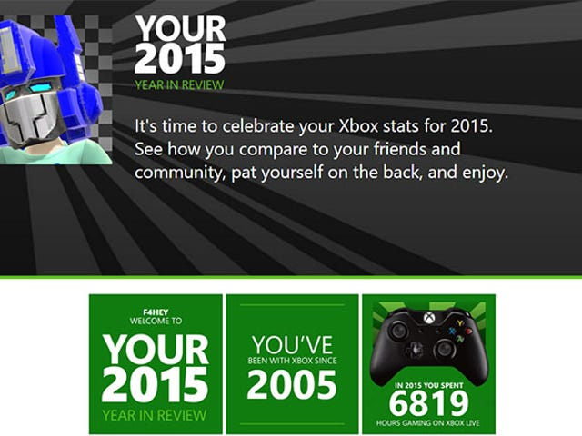 Microsoft has created a nifty little Year in Review page for Xbox One and 360 gamers to check out th
