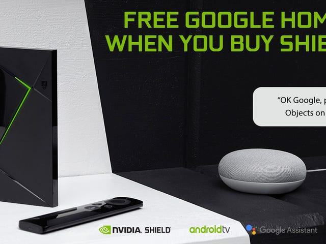 Buy a NVIDIA Shield TV, Get a Google Home Mini For Free