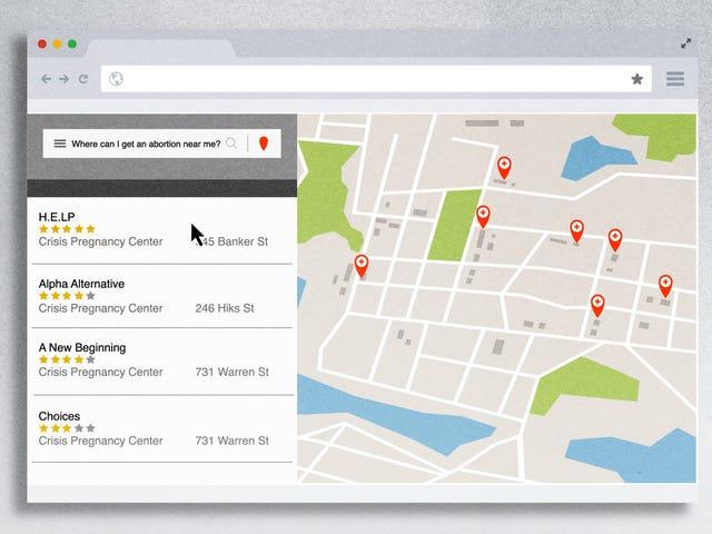 How Google Maps Leads Women Seeking Abortions Astray