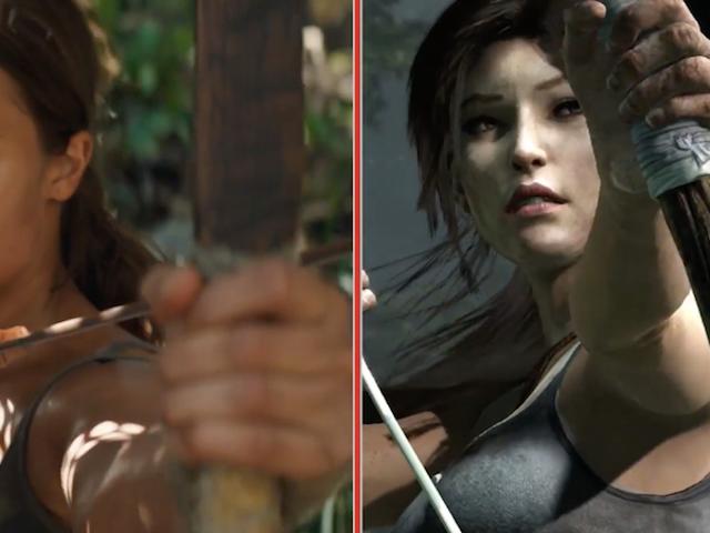 Tämä video näyttää kuinka paljon Tomb Raider -elokuvan on videopelissä