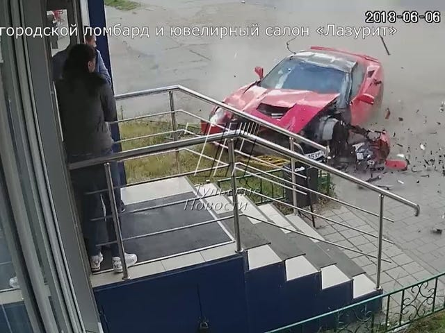 This is why Russians shouldn't drive 'Murrican V8s