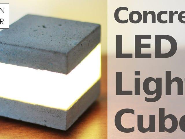 Створіть свій власний акцент світло з бетону і деякі світлодіоди
