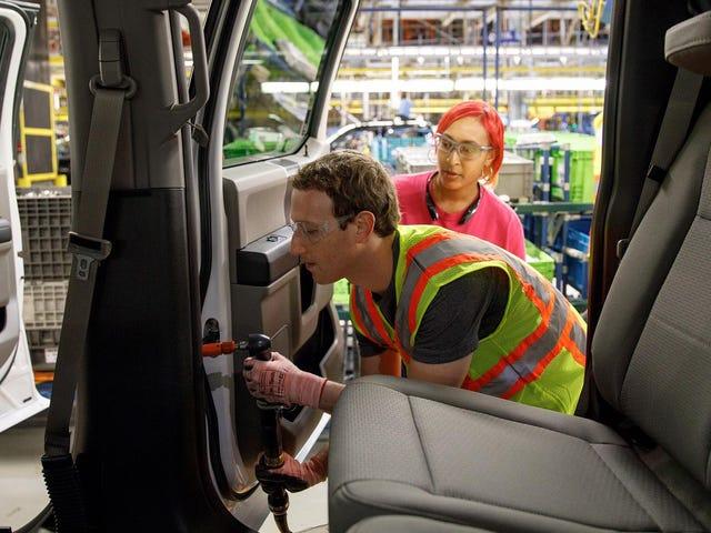 Facebook Daddy Mark Zuckerberg Membantu Membangun Beberapa Ford F-150 Hari Ini