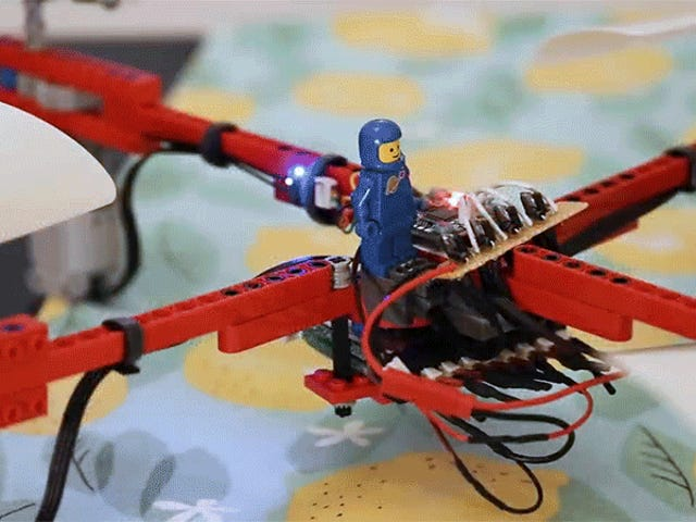 Engineer Builds a Fully Functional Flying Drone Using Almost Nothing But Legos