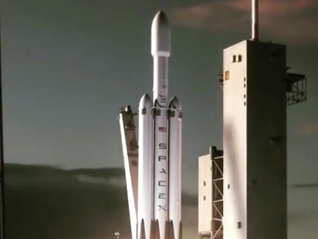 Cool Guy Elon Musk Casual Drops Animation af verdens mest kraftfulde raket