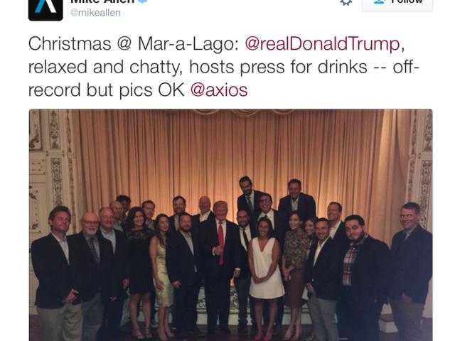 ¿Quiénes son todos estos reporteros que asistieron a una reunión no oficial con Donald Trump?