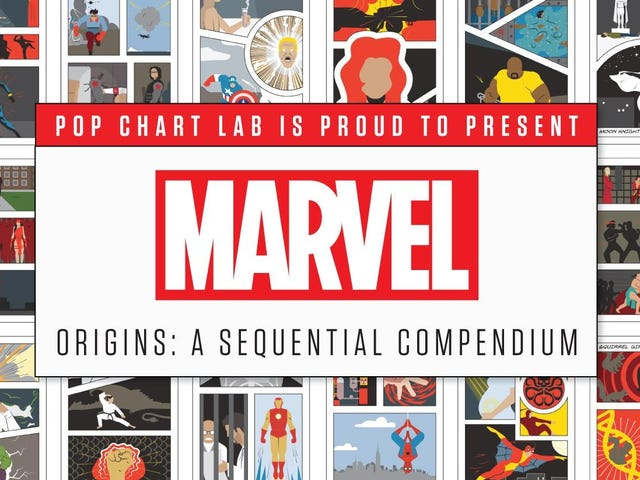 Pop Chart Lab's Marvel Origins Poster Is Here to Rescue Your Boring Walls