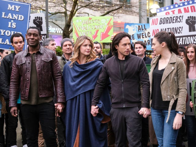 Supergirl leads a peaceful protest in a moving, messy episode
