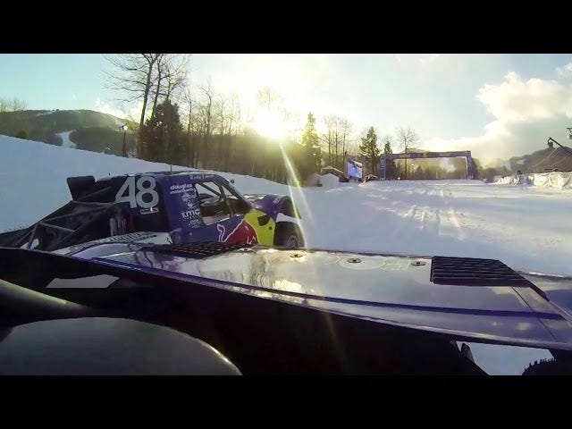 Here's What It's Like To Race A 900 HP Pickup Truck Over A Ski Slope