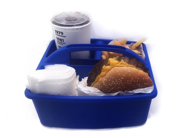 Contenga sus comidas de viaje por carretera en Caddies de ducha