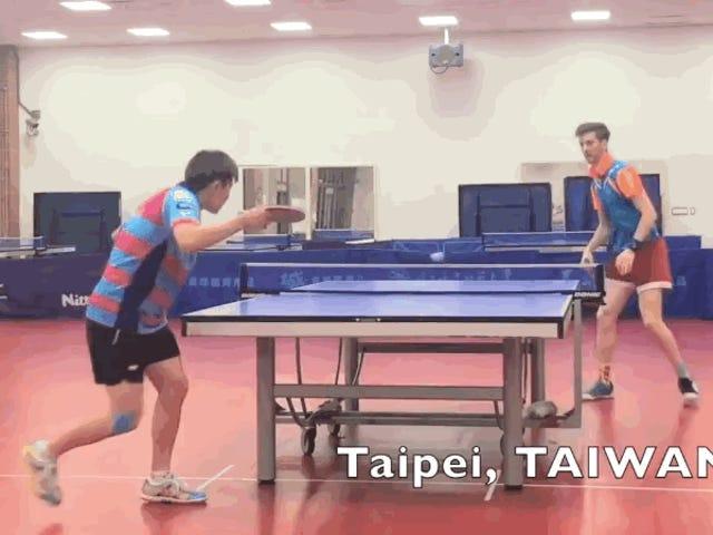 """La ciencia detrás del tiro """"de la serpiente"""" en ping pong, el truco endiablado que deja con cara de tonto al oponente"""