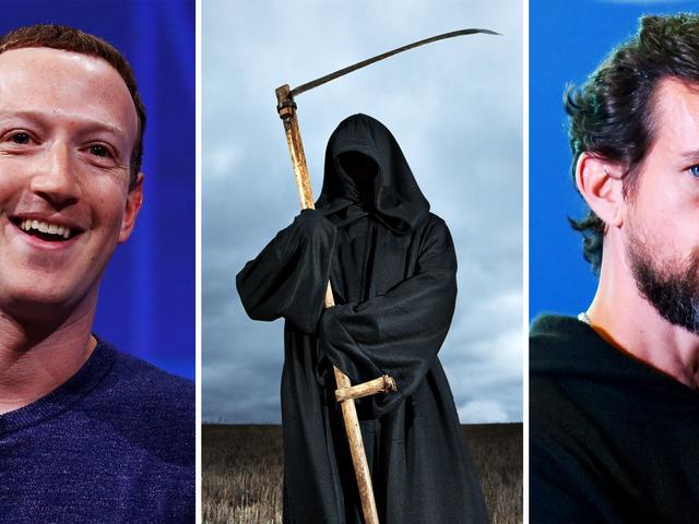 Aurais-tu des relations sexuelles avec Jack Dorsey, Mark Zuckerberg ou choisirais-tu la mort prématurée?