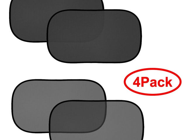 50% OFF FIRSFOR Car Sun Shade(4 Pack)-2 Transparent and 2 Semi-Transparent 20''x12'' Sunshades for UV Rays Protection $5.98