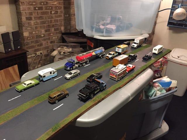 Diorama αυτοκινητόδρομο - δοκιμή Run