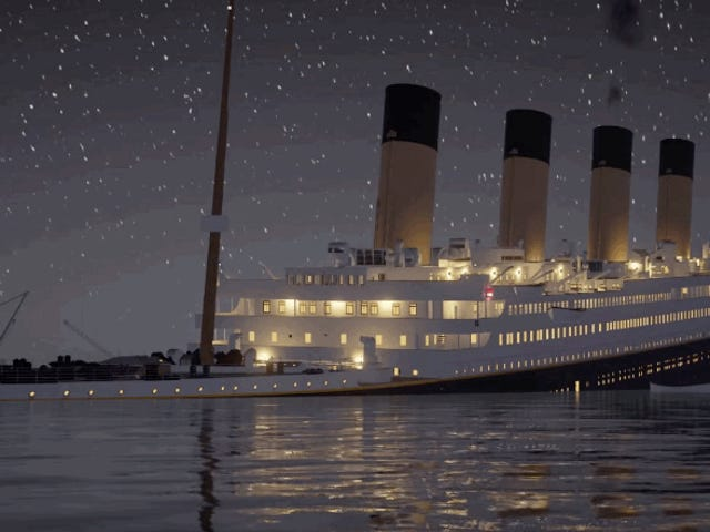 Este vídeo de casi tres revas revive cada detalle del naufragio del Titanic en tiempo real