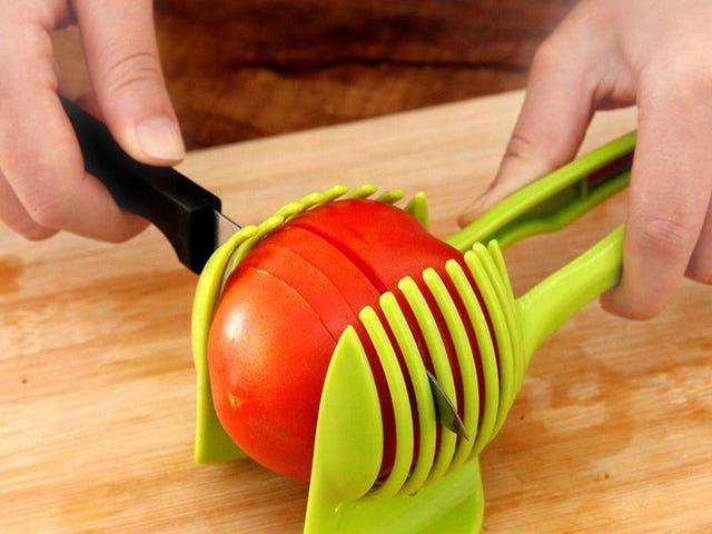 플라스틱 감자 슬라이서 토마토 커터 도구