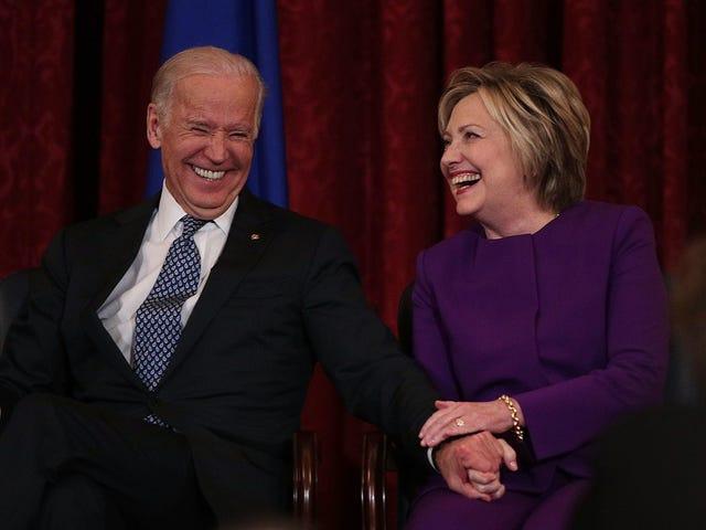 Hillary Clinton pense que le toucher effrayant de Joe Biden n'est pas une grosse affaire