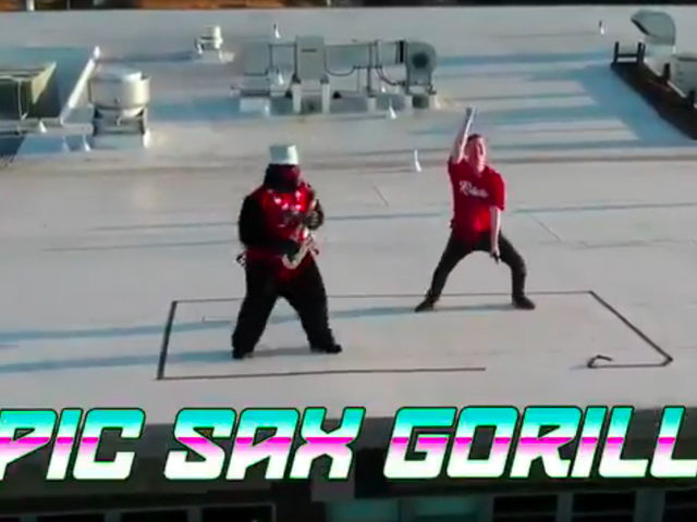 """Roof Stunt With """"Epic Sax Gorilla"""" Costs Minor League Baseball Team Thousands Of Dollars In Fines"""