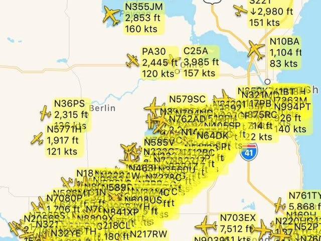 The Skies Over Oshkosh Were A Wee Bit Busy This Afternoon
