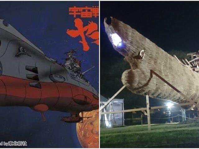 Ikonisk anime rumfartøj genskabt i halm