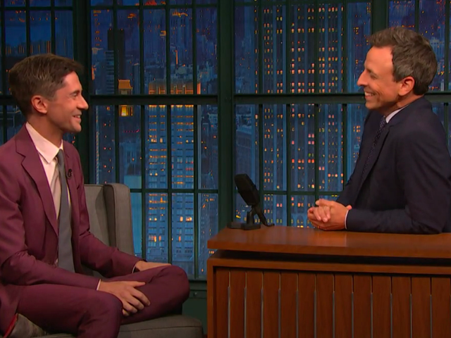 Topher Grace assures Seth Meyers David Duke's BlacKkKlansman racist improvs aren't his