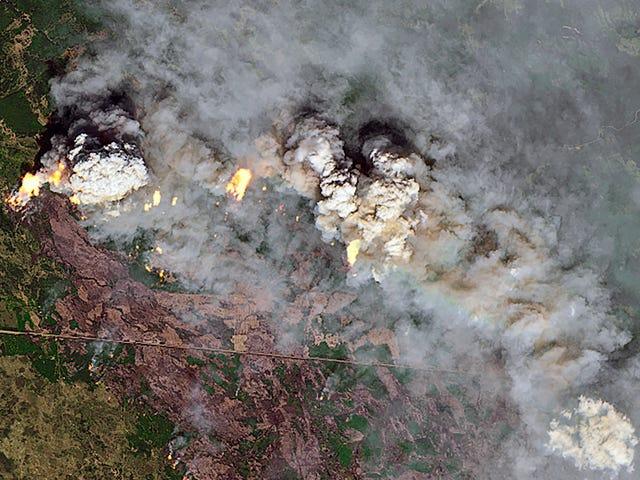 Los incendios forestales canadienses ya están volviendo rojos los atardeceres en los EE. UU.