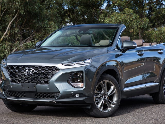Hyundai Australia Releases Images of a Santa Fe Cabriolet Without Warning Us or Anything