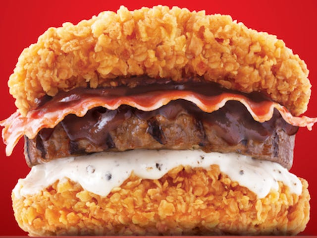 The new Double Down burger is even more ridiculous than the original