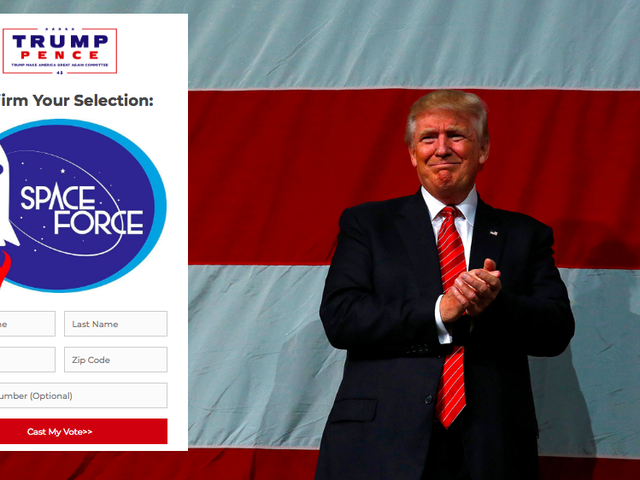 Trump Wants You to Choose a Space Force Logo... for the Merch He'll Sell You